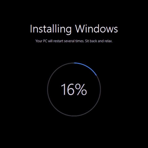 computer installatie